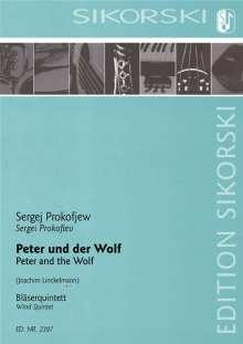 Serge Prokofieff: Peter und der Wolf für Holzbläserquintett, Noten