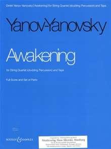 Dmitri Janow-Janowski: Awakening für Streichquartett und Tonband, Noten
