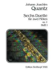 Johann Joachim Quantz: Sechs Duette op. 2, Heft I, Noten