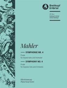 Gustav Mahler: Symphonie Nr. 4 - Finale für Sopran-Solo und Orchester, Noten