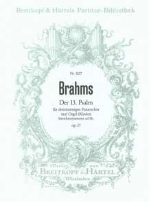 Johannes Brahms: Der 13. Psalm op. 27, Noten