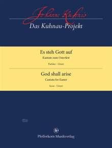 Johann Kuhnau (1660-1722): Es steh Gott auf, Noten