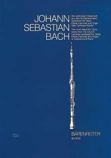 Johann Sebastian Bach: Die schönsten Oboensoli aus den Kirchenkantaten, Bearbeitung für Oboe und Orgel, Noten