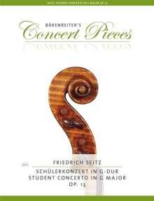 Friedrich Seitz: Concerto No.2 in G-Dur op.13, für Violine + Klavierauszug, Noten