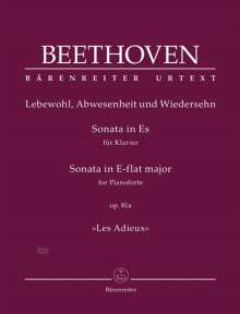 "Ludwig van Beethoven: Sonate für Klavier Es-Dur op. 81a ""Les Adieux"", Noten"