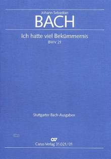 Johann Sebastian Bach: Ich hatte viel Bekümmernis BWV 21 (1713), Noten