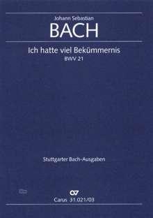 Johann Sebastian Bach (1685-1750): Ich hatte viel Bekümmernis (1. Fassung), Noten