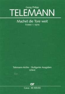 Georg Philipp Telemann: Machet die Tore weit, Noten