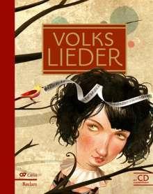 Verschiedene (s. Einzeltitel): Volkslieder - Liederbuch inkl. Mitsing-CD, Noten