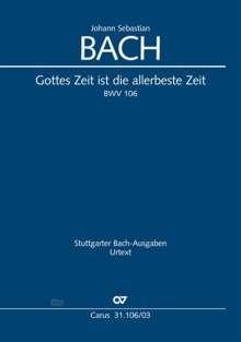 Johann Sebastian Bach: Gottes Zeit ist die allerbeste Zeit, Klavierauszug, Noten