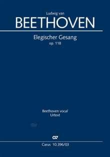 Ludwig van Beethoven (1770-1827): Elegischer Gesang (Klavierauszug), Noten