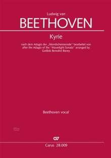 """Ludwig van Beethoven: Kyrie nach dem Adagio der """"Mondscheinsonate"""" (Partitur), Noten"""