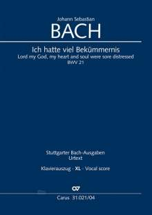 Johann Sebastian Bach: Ich hatte viel Bekümmernis (Klavierauszug XL), Noten