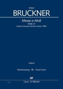 Anton Bruckner: Messe e-Moll (Klavierauszug XL), Noten