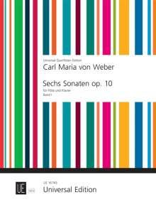 Carl Maria von Weber: Sechs Sonaten für Flöte und Klavier op. 10 (1810), Noten