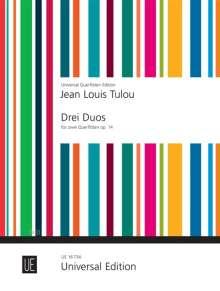 Jean Louis Tulou: 3 Duos für 2 Flöten op. 14, Noten
