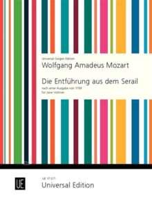 Wolfgang Amadeus Mozart: Die Entführung aus dem Serail für 2 Violinen KV 384, Noten
