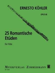 Ernesto Köhler: 25 Romantische Etüden, Noten