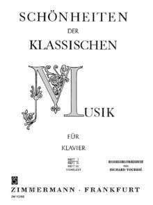 Schönheiten der klassischen Musik für Klavier, Noten