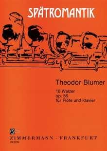 Theodor Blumer: 10 Walzer op. 56, Noten