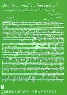 "Franz Schubert: Sonate a-Moll ""Arpeggione"", Noten"