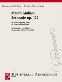 Mauro Giuliani: Serenade für Flöte und Gitarre op. 127, Noten