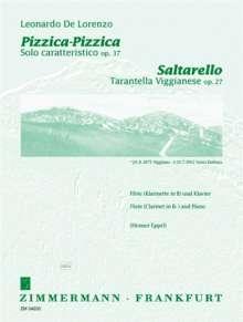 Leonardo de Lorenzo: Saltarello/Pizzica-Pizzica op. 27/37, Noten