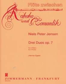 Niels Peter Jensen: Drei Duos op. 7, Noten