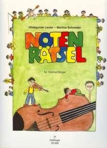 Martina Schneider: Notenrätsel für Violinanfänger 6, Noten
