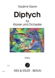 Vladimir Genin: Diptych für Klavier und Orchester, Noten