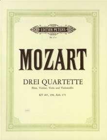 Wolfgang Amadeus Mozart: 3 Flötenquartette, Noten