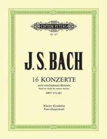 Johann Sebastian Bach: 16 Konzerte nach verschiedenen Meistern für Klavier (Cembalo) BWV 972-987, Noten
