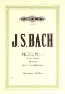 Johann Sebastian Bach: Messe für 3 Solostimmen, Chor und Orchester Nr. 1 F-Dur BWV 233, Noten