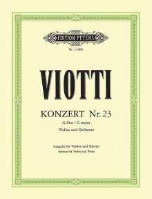 Giovanni Battista Viotti: Konzert für Violine und Orchester Nr. 23 G-Dur, Noten
