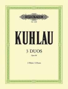 Friedrich Kuhlau: Drei Duos op. 80, Noten