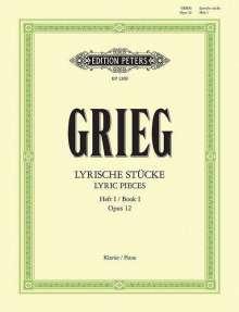 Edvard Grieg (1843-1907): Lyrische Stücke op. 12, Noten