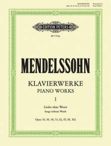 Felix Mendelssohn Bartholdy (1809-1847): Klavierwerke, Band 1: Lieder ohne Worte, Noten