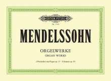Felix Mendelssohn Bartholdy: Orgelwerke, Noten