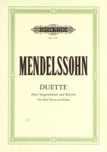Felix Mendelssohn Bartholdy (1809-1847): Duette, Noten