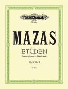 Jacques-Féréol Mazas: Etüden op. 36 / Etudes spéciales, Noten