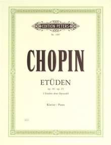 Frederic Chopin (1810-1849): Etüden op. 10 · op. 25 · 3 Etüden ohne op.-Zahl, Noten