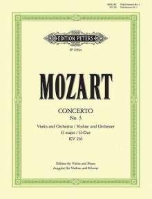 Wolfgang Amadeus Mozart (1756-1791): Violinkonzert Nr.3 G-Dur KV 216, Klavierauszug, Noten