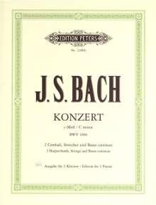 Johann Sebastian Bach: Konzert für 2 Klaviere (Cembali), Streicher und Basso continuo c-Moll BWV 1060, Noten