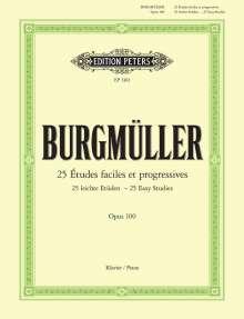 Friedrich Burgmüller: 25 leichte Etüden op. 100, Noten