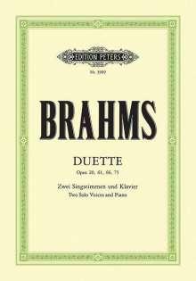 Johannes Brahms: Duette op. 20, 61, 66, 75, Noten