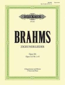 Zigeunerlieder op. 103 · op. 112; 3-6, Noten