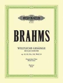 Johannes Brahms (1833-1897): Weltliche a-cappella Gesänge, Noten