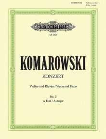Anatoli Komarowski: Konzert Nr. 2 A-Dur, Noten