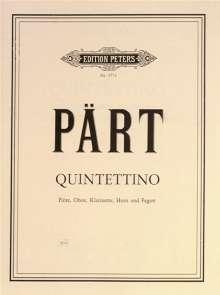 Arvo Pärt: Quintettino für Flöte, Oboe, Klarinette, Horn und Fagott, Noten