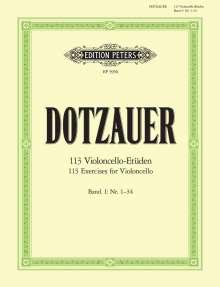 Justus Johann Friedrich Dotzauer: 113 Violoncello-Etüden - Heft 1: Nr. 1 -34, Noten